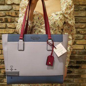 Frozen Lilac Lavender Kate spade LARGE cameron bag